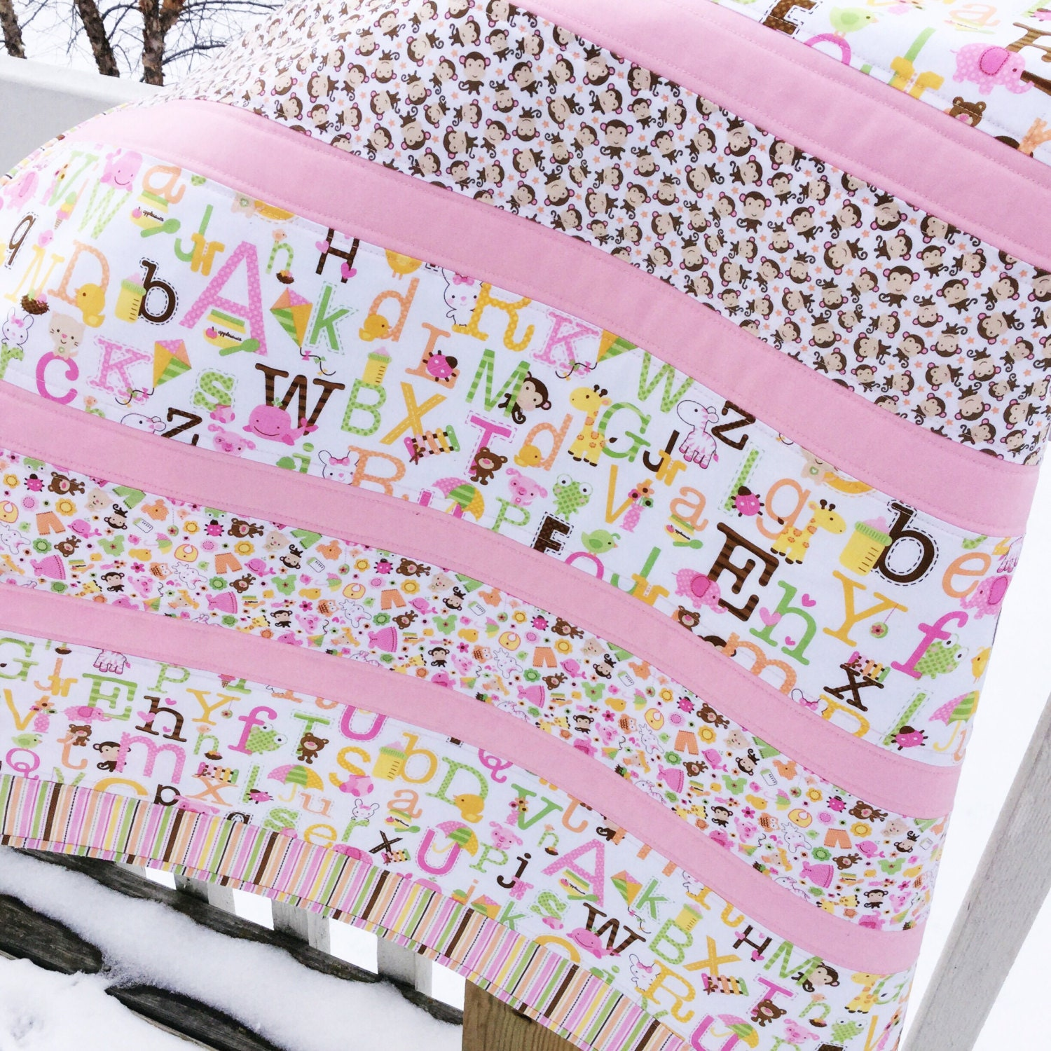 Baby girl complete quilt kit sweet baby girl fabric riley for Baby girl fabric
