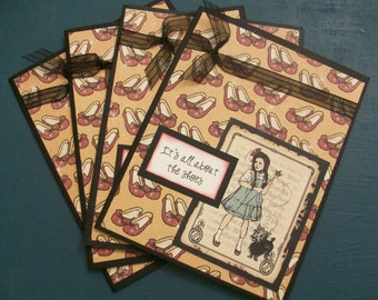 "Wizard of Oz-""It's all about the shoes"" Dorothy Cards"