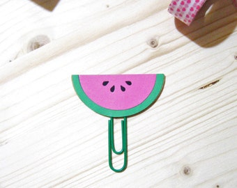 Watermelon Planner Clip, Watermelon Planner Accessories, Stationery, Paperclips, Page Marker, Paper Clips, Filofax, Bookmark