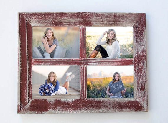 5x7 Red Rustic Picture Frame Collage Frame Window Frame
