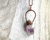 Amethyst necklace | Amethyst | Gemstone necklace | February birthstone | Crystal necklace | Raw amethyst pendant necklace | Mineral necklace