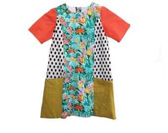 Girls Easter dress size 6 easter dress Ready to ship easter outfit girls dress size 6 dress Easter dresses Girls clothing Boho clothing
