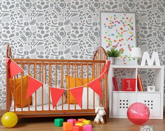 Shape of Things Furniture Stencil for Wall Decor DIY Wallpaper Look