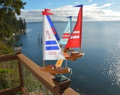 Red White and Blue USA 4 Boat Double Direction