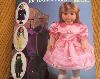 Sew The Essential Wardrobe 18'' doll pattern book by Joan hinds