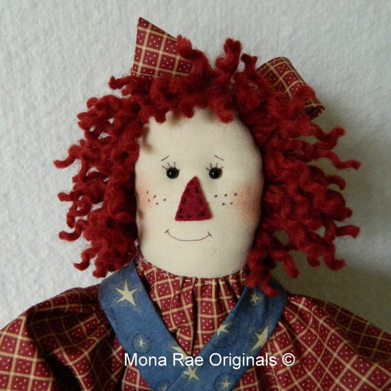 Raggedy Red Doll - Original Design