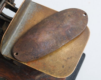 Vintage brass spoon bait, plate, pendant, lure