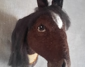 ON SALE needlefelted horse head style fake taxidermy by Feltfactory - READY To Ship