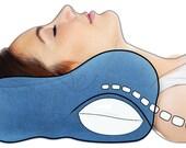 Award-Winning ChiroNeck Chiropractic Car Neck Pillow, Medium, Navy Blue