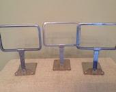 set of 3 vintage sign holders