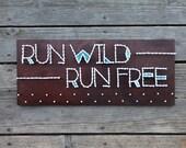 Run Wild, Run Free - Running Medal Display Hanger - String & Nail Art