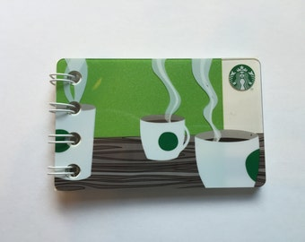 Upcycled Starbucks Mini Notebook