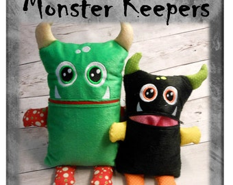 In The Hoop Monster Keeper Boy Stuffed Toy Embroidery Machine Design