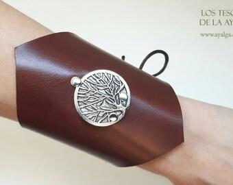 Leather  bracelet tree of life