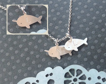More Options... Little Narwhal Necklace, One, Two, Three, Four, Five, Kids, Children, Twin, Twins, Mother's Necklace, Mom, Mommy, Mama