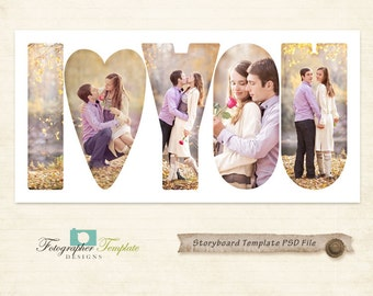 Valentines Day Photography Storyboard Templates Valentine Photoshop Template for Photographers - S139