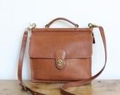 Vintage Coach Bag // Willis Bag in British Tan // Crossbody Bag Messenger Purse Handbag 9927