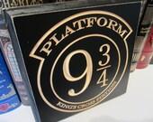 Engraved Door Hanger Sign CNC Carved - Harry Potter Inspired - Platform 9 3 4 King's Cross Station Hogwarts Express - Muggle