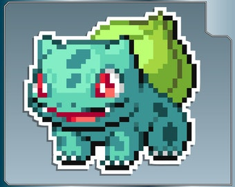 BULBASAUR Sprite No. 1 vinyl decal from Pokemon Sticker for Just about Anything!
