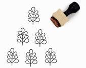 Modern Minimal Branch Rubber Stamp - Hand Drawn Pattern Stamp