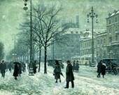 Winter, Paul Gustave Fischer - Cross stitch pattern pdf format