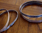 Metal Embroidery Hoops - Cork Lined - Spring Loaded - Vintage Metal Hoops - Mending Hoops - Cross Stitch - Embroidery - Quilting - Set of 2