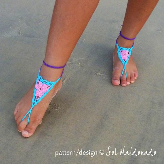 crochet sandal diagram barefoot sandals    crochet    pattern girls summer accessory pdf  barefoot sandals    crochet    pattern girls summer accessory pdf