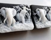 ELEPHANT Animal SOAP, The Original by TCF-Elephants Running Free Soap, Coconut Milk Scented, Moisturizing, Vegetable Based