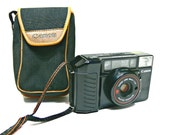 Canon Sure Shot Camera with Case (Autoboy 2, AF38mm2) 38mm 1:2.8 Canon Lens Retro Vintage Film Camera