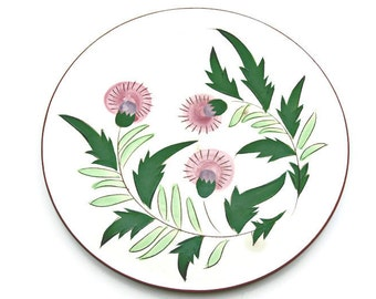 Vintage Stangl Pottery Dinner Plate - Thistle Pattern - 10 inch - Hand Painted Fine China Dinnerware