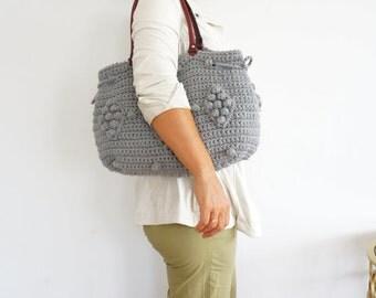 GRAY Bag Totes  HandBag Vinter Bag Leather Bag Leather Tote Handmade Bag Unique Bag Designer Bag For Her