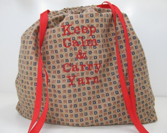 Project Bag - Keep Calm and Carry Calm