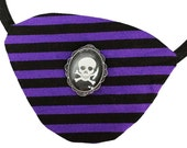 Eye Patch Purple Pirate Victorian Steampunk Gothic Fantasy Fortune Teller