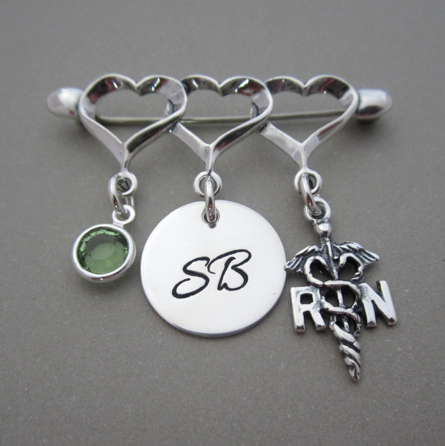 rn lpn gift sterling silver jewelry by shinymetals