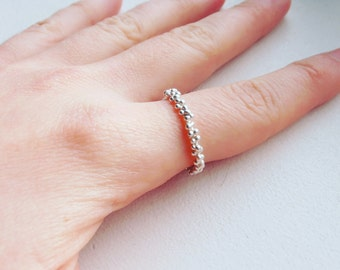 Dots - handmade sterling silver ring