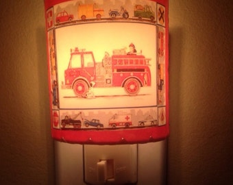 Fire truck and friends nightlight