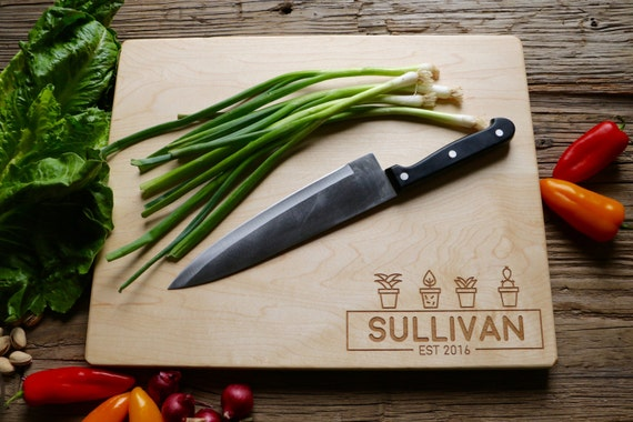 Engraved Cutting Board - Custom - Wood Cutting Board - Wedding Gift, Housewarming Gift, Anniversary Gift - Personalized