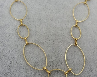 Wholesale-10 feet fabulous oval loop chain-RAW BRASS-solid chains-F1962