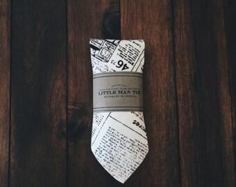 Little Man Tie || Newsprint