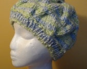 Bulky and Warm Cable Hand-Knit Ladies Hat. Super soft and Warm - Ready to be Shipped