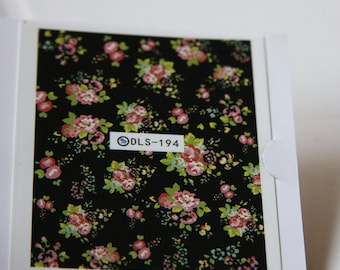 One Sheet of Mixed Flower Nail Stickers / Nail Art  (194)