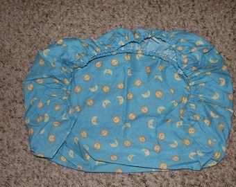 Blue Sun, Star, and Moon Pack N Play Fitted Sheet
