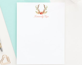 Antler Stationery, Personalized Stationery, Stationery Set, Custom Stationery, Stationary Personalized, Stationary Cards, PS050