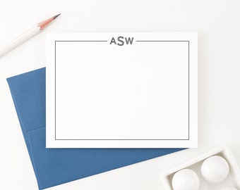 Personalized stationery // Monogram stationery // Personalized stationary // Monogram Thank you cards // Monogram note cards, ASW09