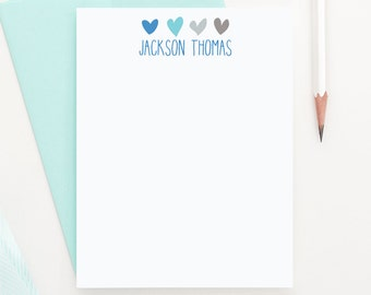 Boys Stationery, Personalized stationery, Heart stationery, Boys Note Cards, Baby Stationery, Baby Note cards, Baby Boy Stationery, KS003