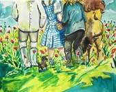 PRE ORDER// Wizard of Oz painting, fairytale, chapter book illustration