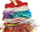 Charming Vintage Inspiration Kits - 3 yards of quaint laces and yarns for your crafting and embellishing needs