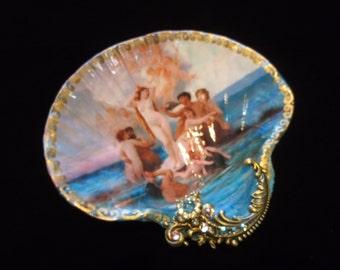 Birth Of Venus Large Shell Jewelry Dish