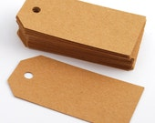SALE! 100 gift tags small basic / blank gift tags in brown kraft