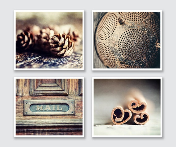Rustic Kitchen Wall Art Set Rustic Kitchen Print Or Canvas